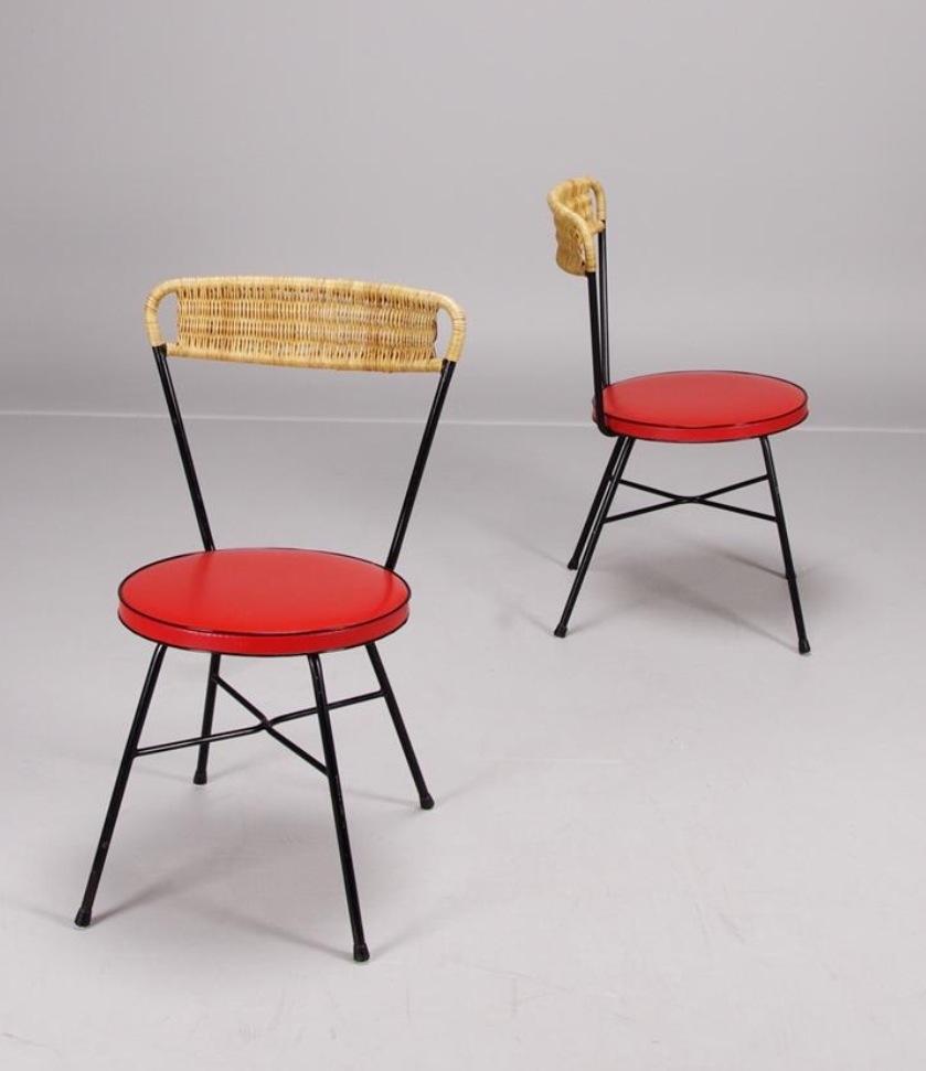 Pareja de sillas suecas a os 60 70 nosy parker - Sillas anos 60 ...