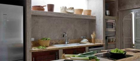cocina ibizenca en cemento pulido