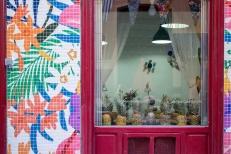 Intervención Antioquia Deco en Café Costura Madrid